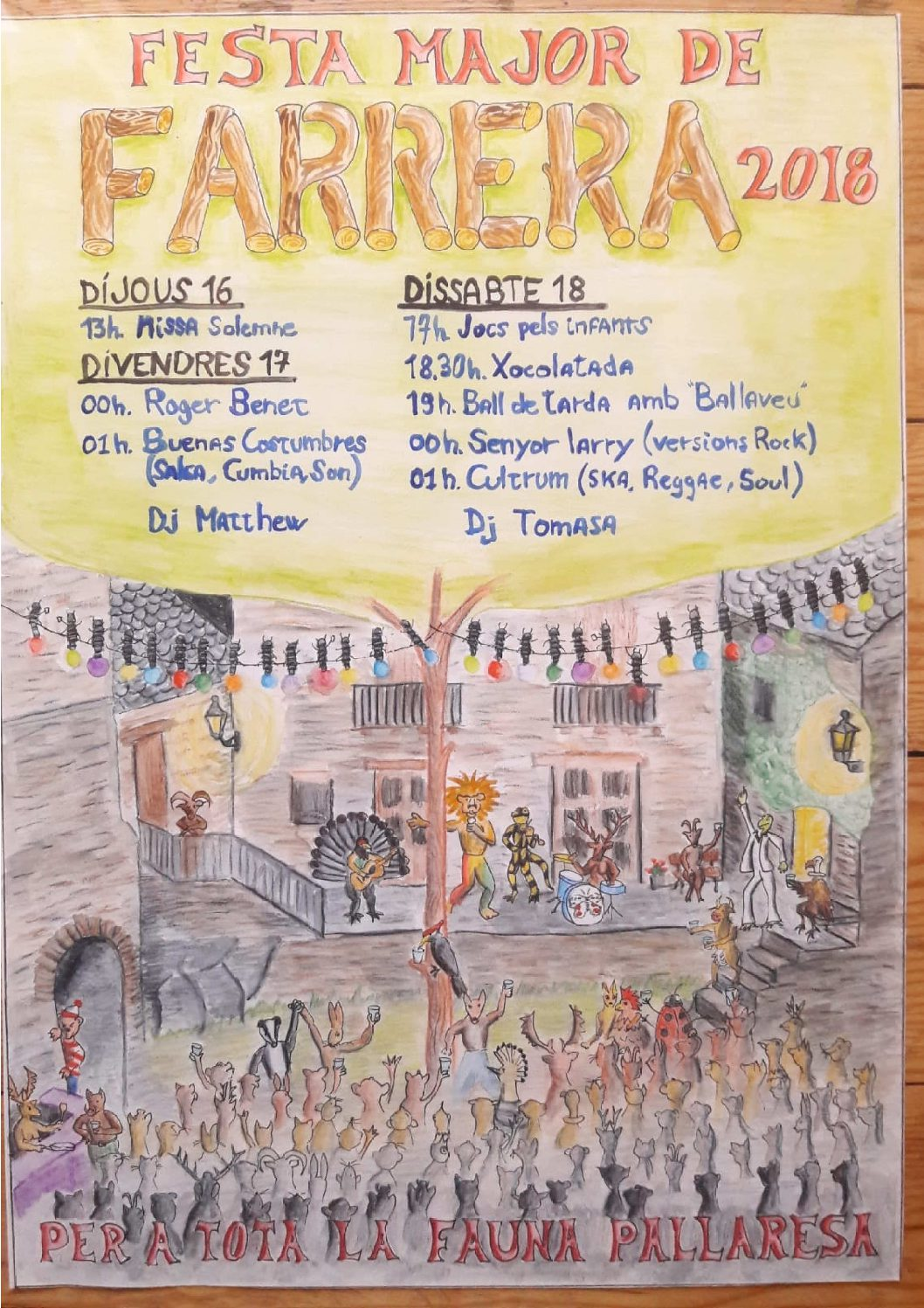 Festa Major de Farrera, 2018